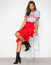 NLY Trend Rød High Low Skirt