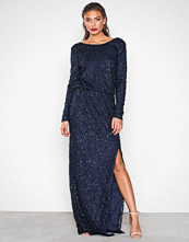 NLY Eve Blå Sparkly Lace Gown
