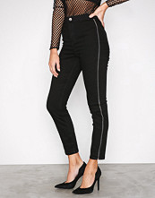 River Island Black Going Out Zip Jeans