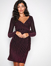 NLY One Rosa Glitter Stripe Dress