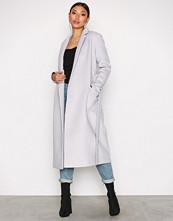 Glamorous Light Grey Classic Trench Coat