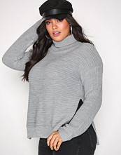 Missguided Grey Roll Neck Knitted Jumper