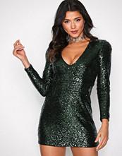 Glamorous Dark Green Sequin Party Dress