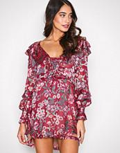 For Love & Lemons Berry Flora Drawstring Mini Dress