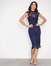 Love Triangle Navy Honesty Dress