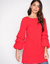 New Look Red Ruffle Long Sleeve Dress
