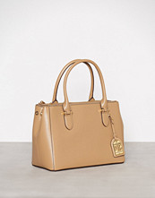 Lauren Ralph Lauren Cream Newbury Double Zipper Shopper