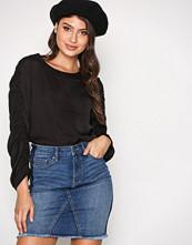 Vero Moda Blå Vmlana Nw Washed Panel Short Skirt