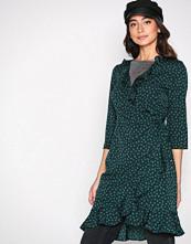 Vero Moda Mørk turkis Vmhenna Dot 3/4 Wrap Abk Dress Exp