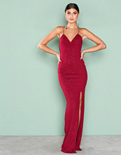NLY Eve Burgundy All Over Sparkle Gown