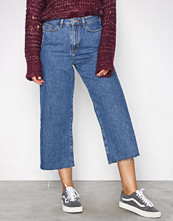 New Look Blue Wide Leg Rip Jeans