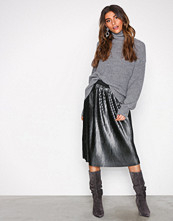 Pieces Svart Pcrimmer Midi Skirt