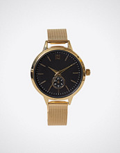 River Island Metallic Gold Dial Mesh Watch