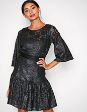 Closet Dark Grey Lace Frill Hem Dress