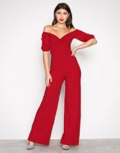 NLY Trend Rød Bardot Jumpsuit