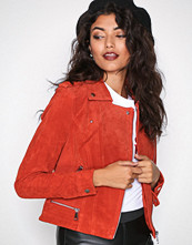 Vero Moda Spicy Orange Vmroyce Short Suede Jacket Col