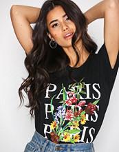 New Look Black Paris Logo T-shirt