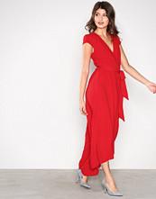 Ax Paris Red Long Wrap Dress