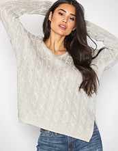 Polo Ralph Lauren Taupe V-Neck Long Sleeve Sweater