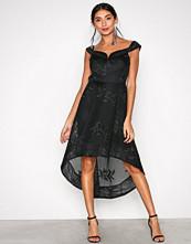 River Island Black Bardot Waisted Dress