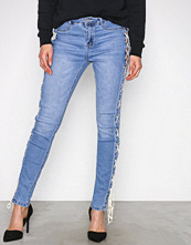 Missguided Blue Sinner High Lace Side