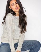 Polo Ralph Lauren Taupe Metallic Cable Long Sleeve Sweater