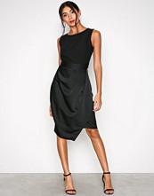 Closet Black Draped 2-in-1 Pencil Dress