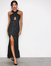 Ax Paris Black Crossover Maxi Dress