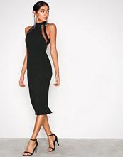 Ax Paris Black Turtle Neck Strap Dress