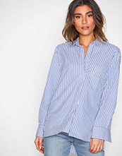 Filippa K White/Blue Relaxed Stripe Shirt