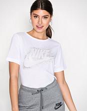 Nike Hvit NSW Essntl Top SS Metllic
