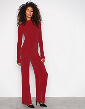 NLY Trend Rød Sparkling Polo Jumpsuit