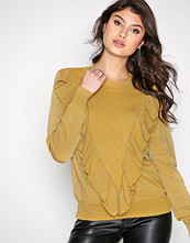 Selected Femme Mörk Gul Sfagnes Ls Knit O-Neck Rt