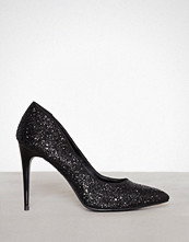 New Look Black Chunky Gliitter Pointed Heel
