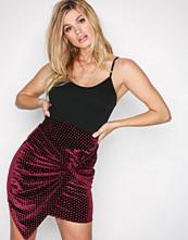 NLY Trend Burgundy Sparkling Dot Skirt
