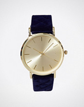 New Look Navy Velvet Strap Watch