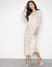 Polo Ralph Lauren Beige Long Sleeve Dress
