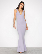 Missguided Grey Plunge Maxi Dress