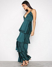 Missguided Green Strappy Layered Dress