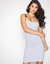 Missguided Grey LONDUNN Square Neck Bodycon Dress
