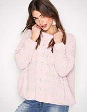New Look Lys rosa Cable Knit Jumper