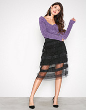 Noisy May Svart Nmmarly H/W Calf Skirt D9