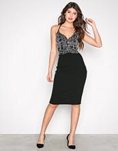 River Island Black Lace Midi Bodycon Dress