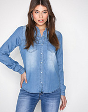 Vila Medium Blue Vibista Denim Shirt-Noos