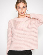 Selected Femme Lys rosa Sfbila Ls Knit O-Neck