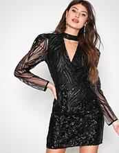 River Island Black Long Sleeve Bodycon Dress
