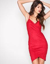 Ax Paris Red Wrapped Strap Dress