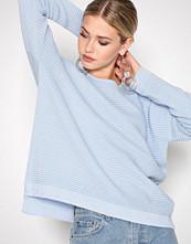 Selected Femme Blå Sflaua Ls Knit Oversize Wide O-Neck