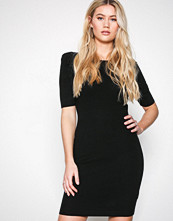 New Look Black Puff Sleeve Bodycon Dress