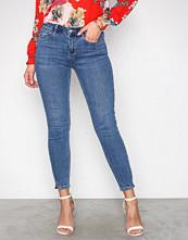 New Look Blue Split Hem Skinny Jenna Jeans